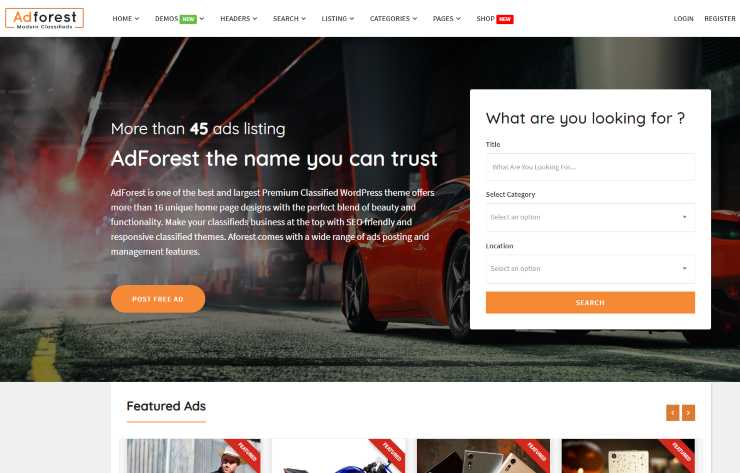adforest wordpress theme