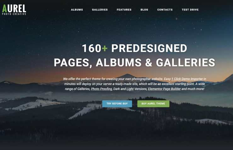 aurel WordPress theme