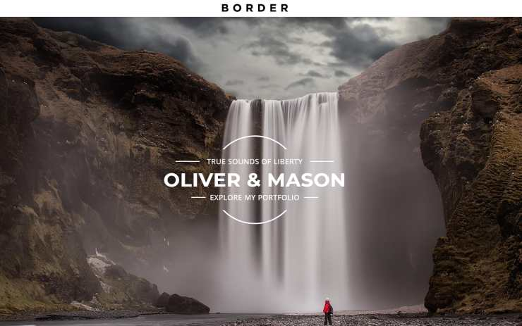 border WordPress theme