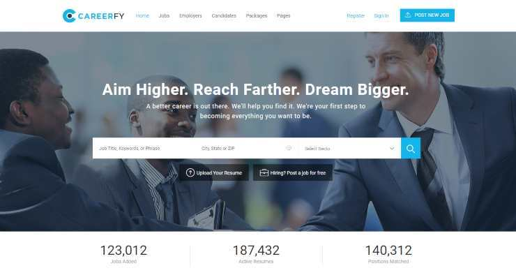 careerfy wordpress theme
