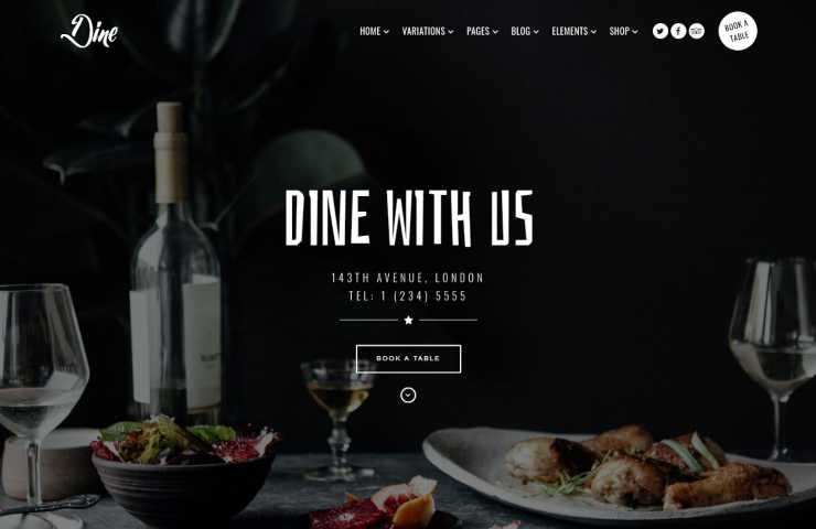 dine wordpress theme