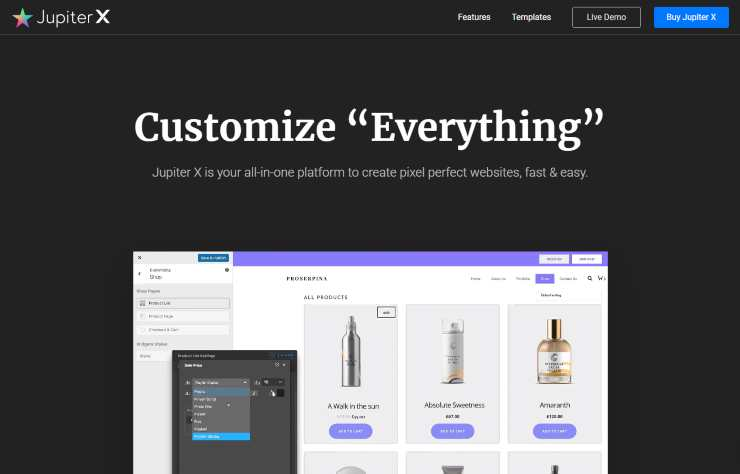 jupiterX wordpress theme