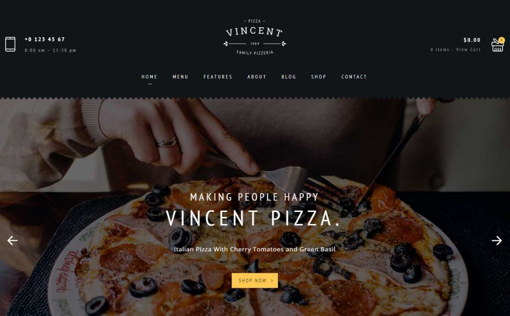 vincent wordpress theme
