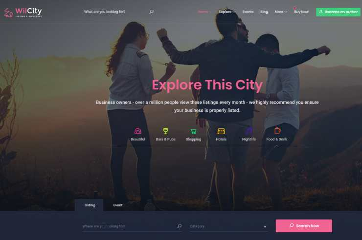 wilcity wordpress theme