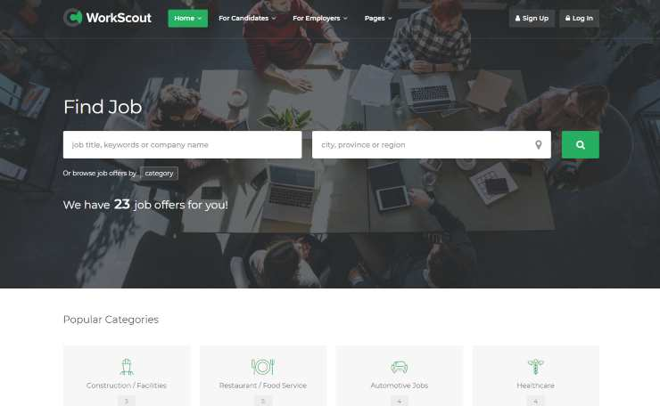 workscout wordpress theme